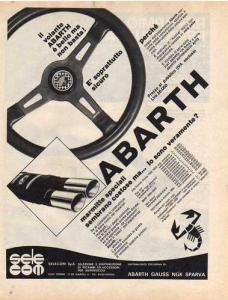 Abarth Sportlenkrad Anzeige ca. 1974