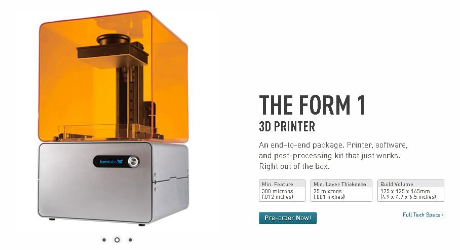 Form 1 3D-Drucker