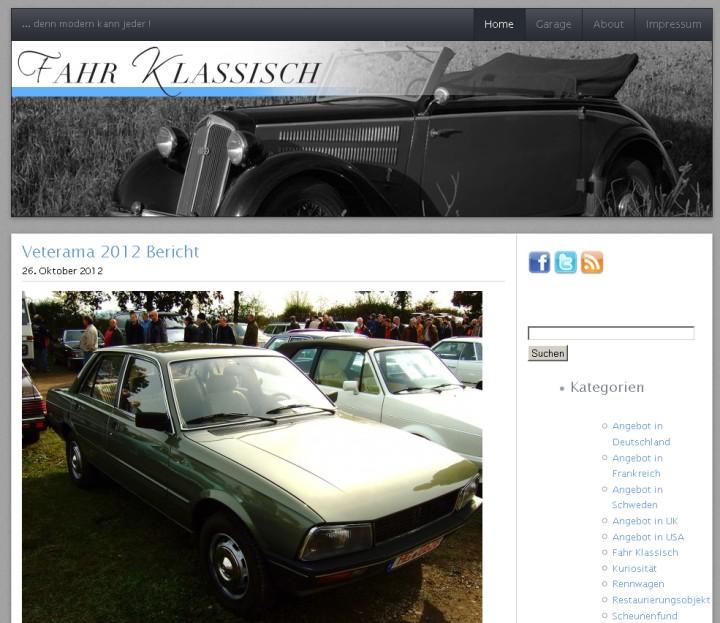 Fahr klassisch - Axel hatte den richtigen (?) Tipp für das richtige (?) Auto. Tausend Dank jedenfalls von Teil der Maschine!