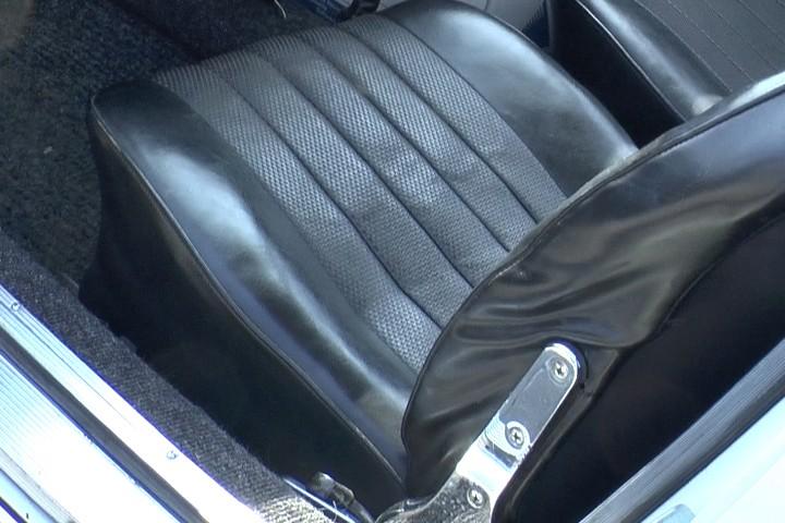 Sitzarretierung beim Porsche 911 Coupé von 1965 - Fehlanzeige Werkszustand