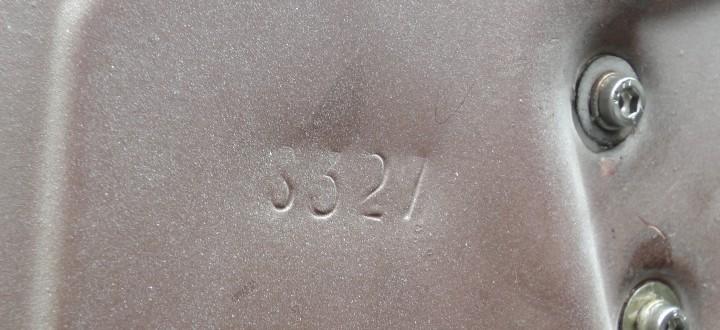 Fahrertür von innen. Die Nummer ist nicht matching. Das heißt, die Tür wurde irgendwann mal ausgetauscht.