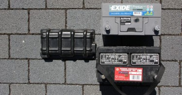 Die amerikanische Originalbatterie - nach fünf Jahren noch ok - aber vor der großen Fahrt auszutauschen