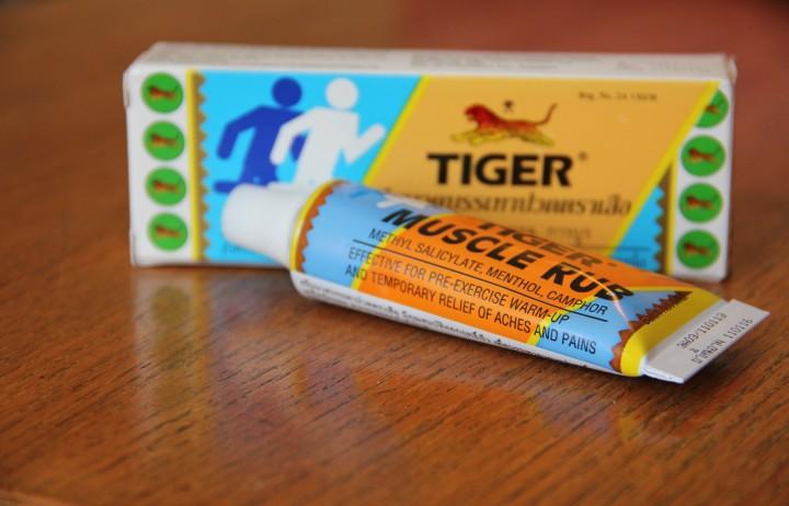Tiger Muscle Rub. Das Äquivalent zu einem Thai-Curry mit 5 Chilis - nur zum Einreiben!