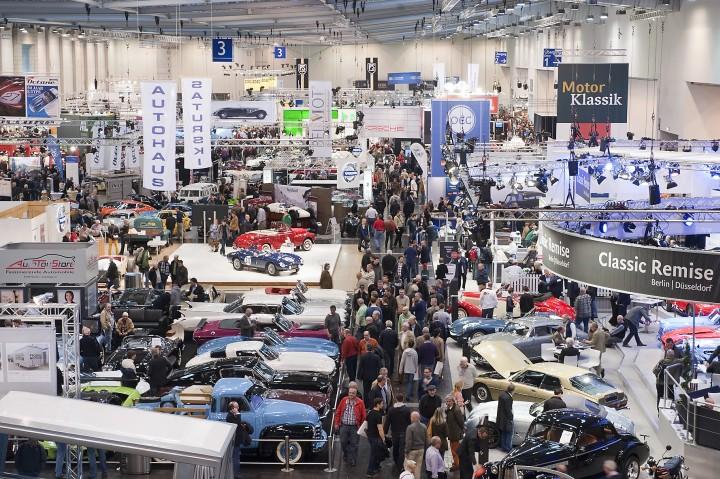 Techno Classica 2014 - so ähnlich wird es wohl aussehen (Foto: Messe Essen GmbH, Norbertstraße, 45001 Essen, Germany, http://www.messe-essen.de)
