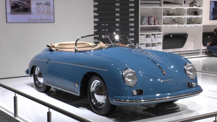 Längst ein unerreichbarer Traum. Oder bald eine günstige Alternative zum 911 T? Porsche 356 Speedster auf dem Porsche Stand.