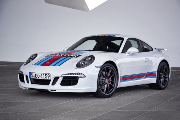Ganz klar meine Wahl: Die weiße Version des Martini Racing Edition Porsche