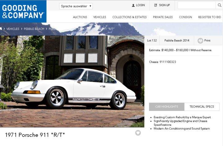 """Bringt der """"Nachbau"""" wirklich 140.000 US-Dollar oder mehr?  (Screenshot: http://www.goodingco.com)"""