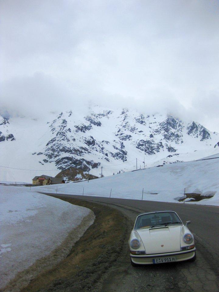 Mit dem Porsche 911 S 2.4 Targa über die Alpen. Damit ist vorerst Schluss - aber nicht endgültig!
