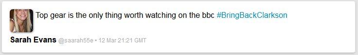 Ist TopGear wirklich der einzige Grund, BBC einzuschalten? (Twitter-Kommentar)