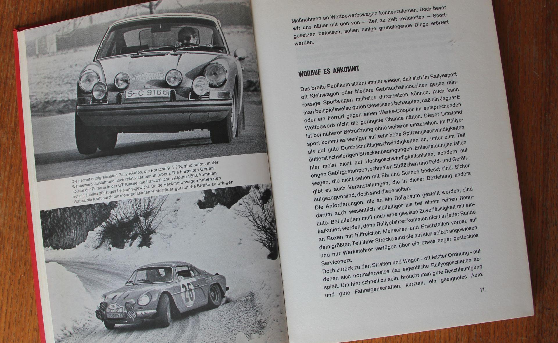 """Auch der Elfer kommt in Hacks """"Rallyeautos"""" nicht zu kurz. Natürlich direkt neben seinem damaligen Hauptwidersacher - der Renault Alpine Berlinette"""