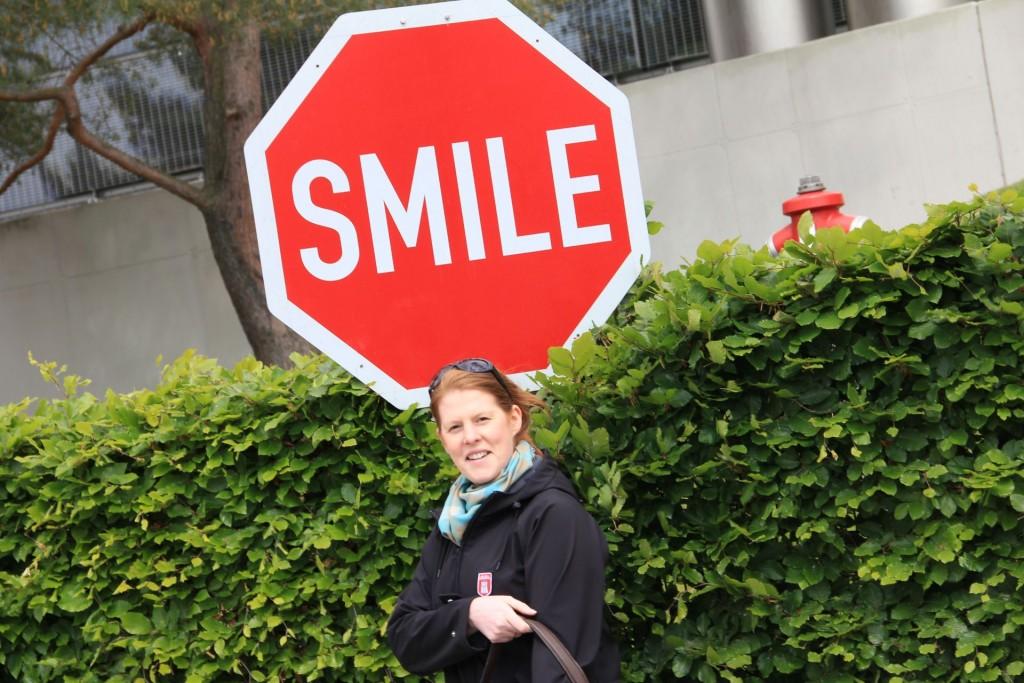 SMILE - das Schild wirkt