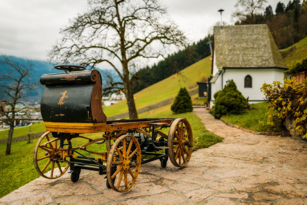 """Der """"P1"""". Von Porsche und elektrisch gab es schon vor 100 Jahren."""