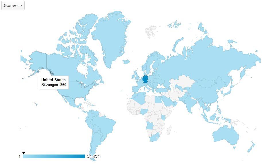 2015 kamen fast 900 Besucher aus den USA. Übersetzungsservices im Web sind großartig.
