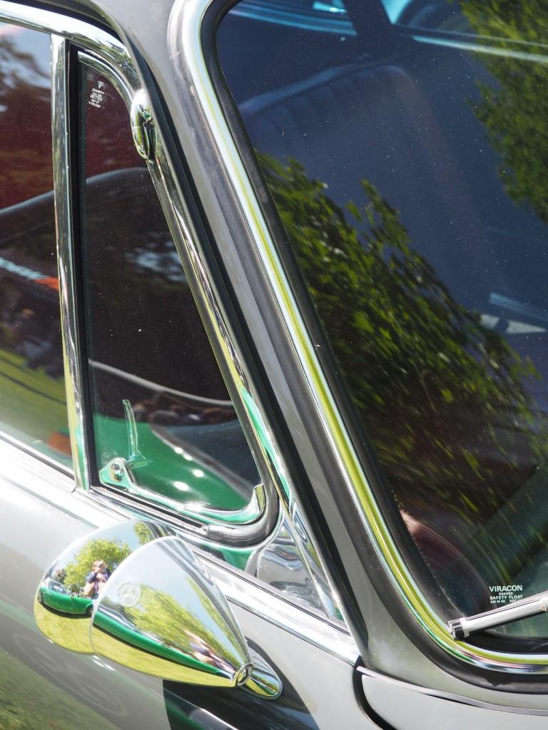 Talbot-Spiegel an Porsche 911 SWB: Wirklich was sehen konnte man nix drin.