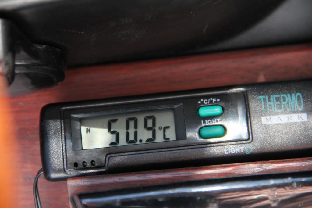 Fast schon Death Valley Rekord: 50.9 Grad Celsius im Porsche 911 Coupé