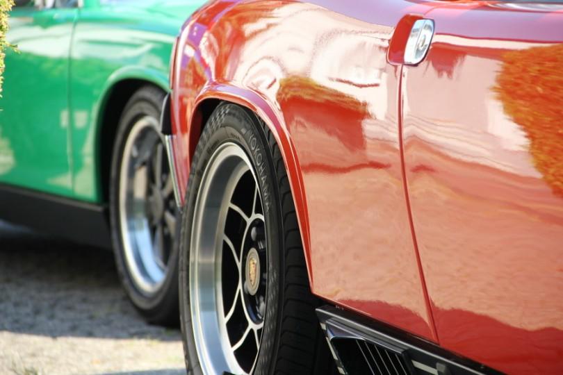 Porsche 914 - passt gerade so das Rad.