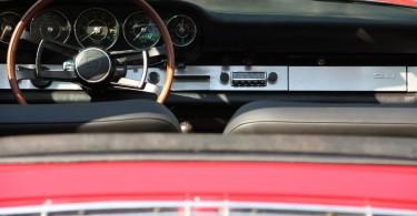 Porsche 911 Softtop Targa, Lenkrad, Holzlenkrad